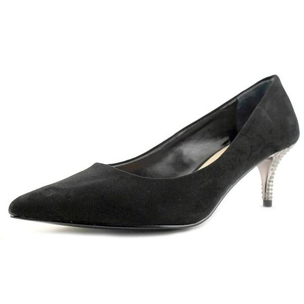 Nina Teressa Women Pointed Toe Synthetic Black Heels