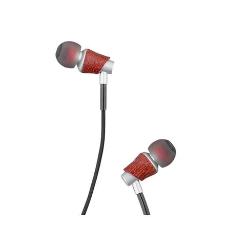 Monoprice MP20 In-Ear Earphone, Beryllium Drivers And Natural Wood Housing With 4-Foot Earphone Cable