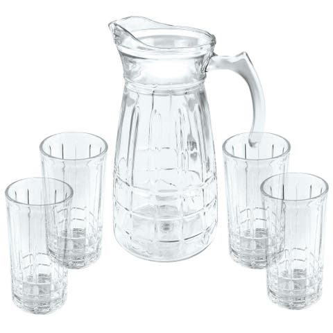 Gibson Home Jewelite Glass Pitcher and Tumbler Set