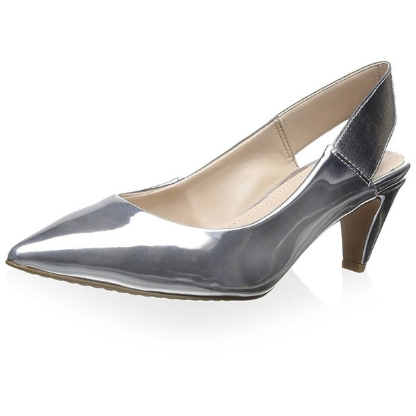 French Connection Womens Kourtney Leather Pointed Toe SlingBack Classic Pumps