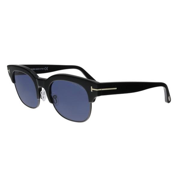 f071eb68e4e91 Shop Tom Ford FT0597 01V Harry-02 Black Retro Sunglasses - No Size ...