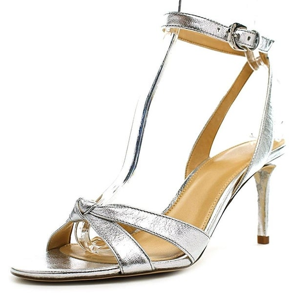 MICHAEL Michael Kors Womens Maxwell Mid Sandal Open Toe Ankle Strap Classic P...
