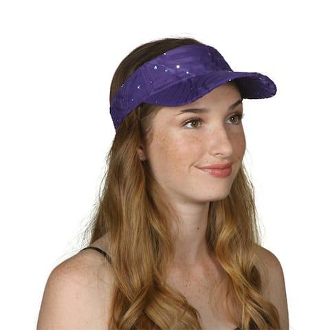 TopHeadwear Glitter Sequin Visor Hat