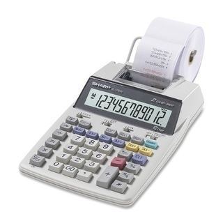 Sharp EL1750VW Sharp EL-1750V Portable Printing Calculator with Clock and Calender