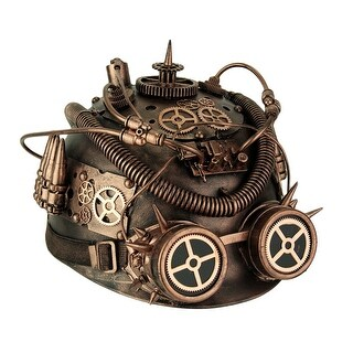 Metallic Copper Spiked Steampunk Helmet with Goggles