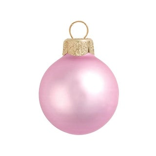 """4ct Matte Pale Pink Glass Ball Christmas Ornaments 4.75"""" (120mm)"""