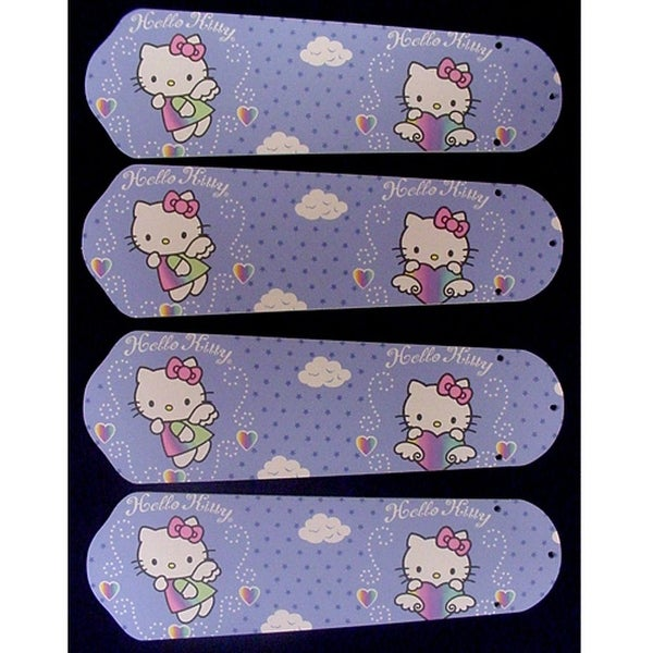 Hello Kitty Custom Designer 42in Ceiling Fan Blades Set - Multi