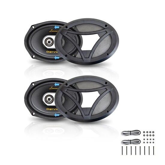 "6"" x 9"" 360W 3-Way Coaxial Speaker - Pair"