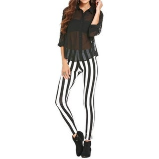 Material Girl Womens Juniors Skinny Pants Striped Stretch