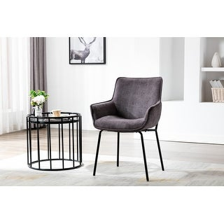 Link to Porthos Home Remy Dining Chairs with Arms, Fabric and Iron Legs Similar Items in Dining Room & Bar Furniture
