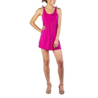 Miu Miu Women's Modal Silk Blend Pleaded Dress Pink - small