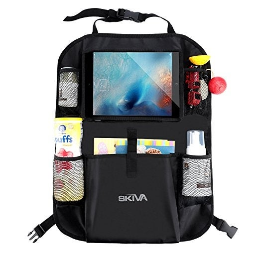 Skiva Car Back Seat Organizer Multi Pocket Travel Storage With Touch Screen Ipad Tablet Books Toys Holder And More