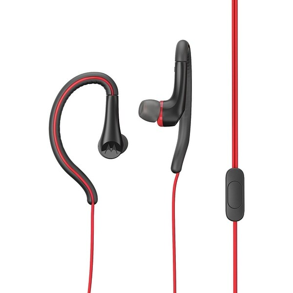 Motorola Noise Isolation In-Ear Headphones With Secure Ear Hook Wear Style