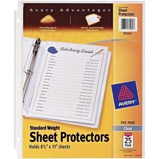 - Avery Standard Weight Sheet Protectors 25/Pkg