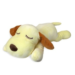 Snoozimals 20in Dog Yellow Plush, Stuffed Animals by Go! Games