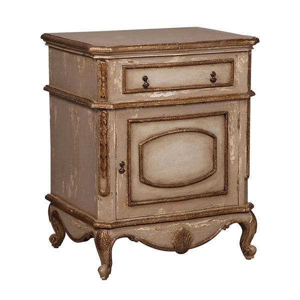 """GuildMaster 642535 Legacy 28"""" Wide Wood Nightstand - Champagne"""