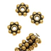 TierraCast 22K Gold Plated Pewter Daisy Spacer Beads 5mm (50)