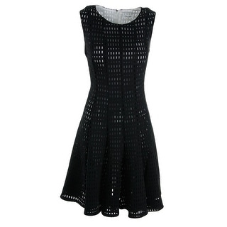 Calvin Klein Womens Perforated Sleeveless Casual Dress - 10