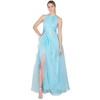 Badgley Mischka Draped Organza Evening Ball Gown Dress - 8