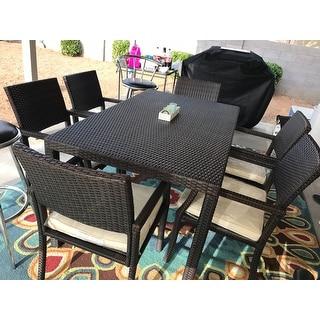 Rhode Island Outdoor 7-piece Wicker Rectangular Dining Set by Christopher Knight Home