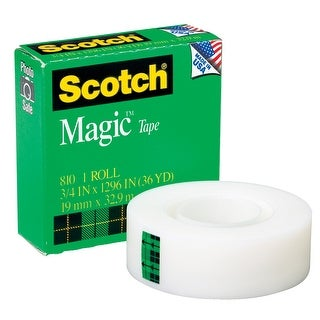 Scotch 810 Magic Tape, 0.75 x 1296 Inches, Matte Clear