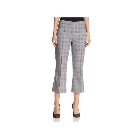 Elie Tahari Womens Lisa Dress Pants Glen Plaid Cropped - 4