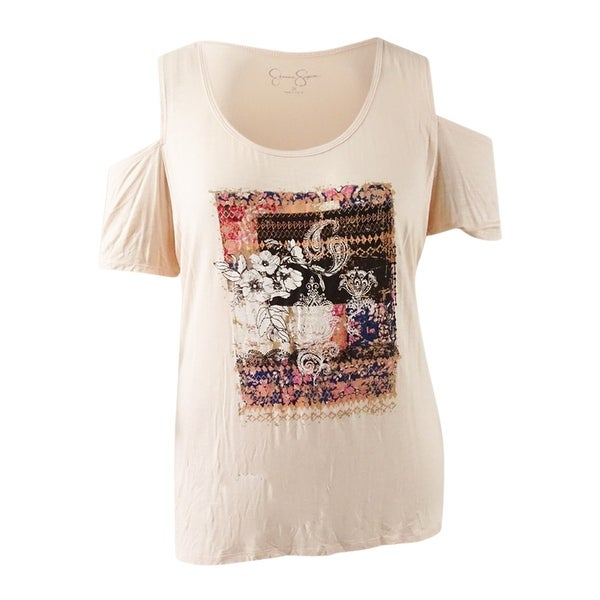 80d507abe4db3 Shop Jessica Simpson Women s Trendy Plus Size Cold-Shoulder T-Shirt ...