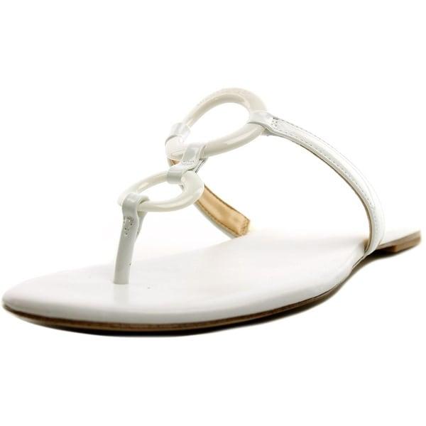 Michael Michael Kors Claudia Flat Sandal Women Optic White Sandals