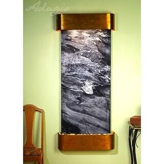Adagio Inspiration Falls Fountain w/ Black Spider Marble in Rustic Copper Finish
