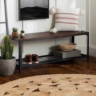 """Link to Carbon Loft 48"""" Angle Iron Entry Bench Similar Items in Living Room Furniture"""