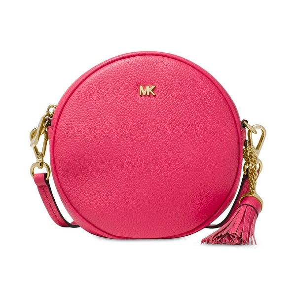 ffc04f1e3528 MICHAEL Michael Kors Circle Canteen Pebble Leather Crossbody Bag Rose Pink
