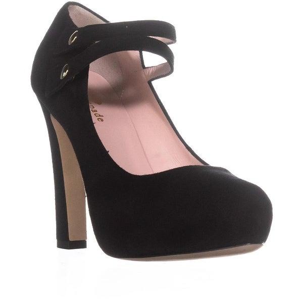 Kate Spade New York Nara Buckle Platform Heels, Black/Kid Suede - 6 us