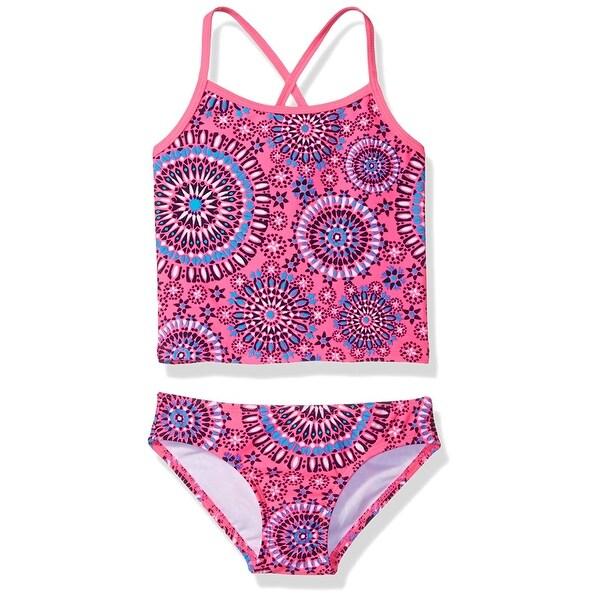 5da353e140d87 Shop Kanu Pink Blue Girls Size 6 Melanie Tankini Set Printed Swimwear - Free  Shipping On Orders Over $45 - Overstock - 28097483
