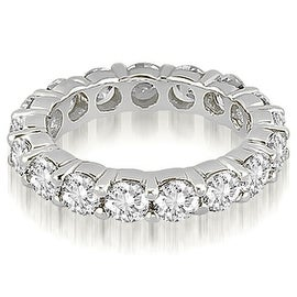 5.60 cttw. 14K White Gold Round Shared Prong Diamond Eternity Ring