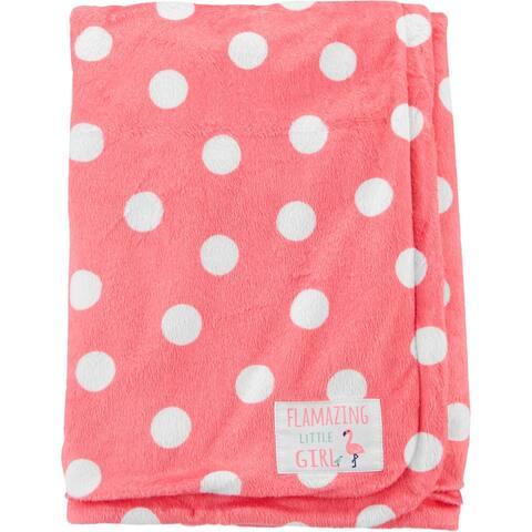 Carter's Baby Girls Flamazing Little Girl Polka Microfleece Blanket- One Size