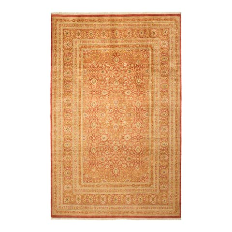"Mogul, One-of-a-Kind Hand-Knotted Area Rug - Orange, 6' 2"" x 9' 7"" - 6' 2"" x 9' 7"""