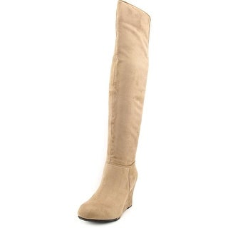 Chinese Laundry Unbelievable Round Toe Canvas Over the Knee Boot