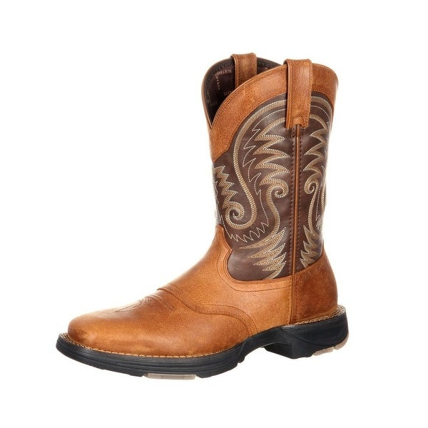 Durango Western Boots Mens Ultralite Saddle Square Toe Brown