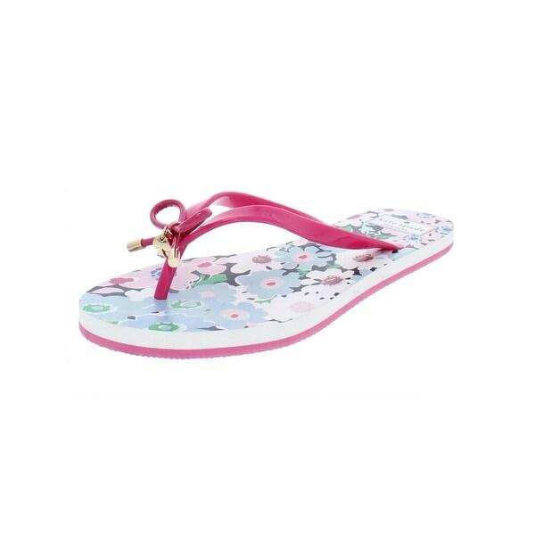 Kate Spade White Flip Flops