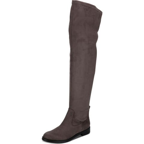 Kenneth Cole Reaction Womens Wind-y Over-The-Knee Boots Faux Suede Tall