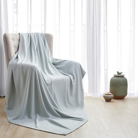 Hotel Grand 100 Percent Cotton Thermal Blanket