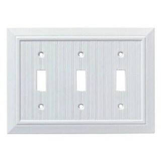 Franklin Brass W35273L-PW-U Classic Beadboard Triple Switch Wall Plate,Pure White