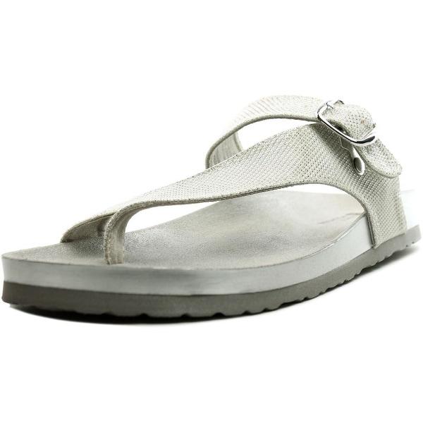 White Mountain Henri Women Open Toe Canvas Thong Sandal