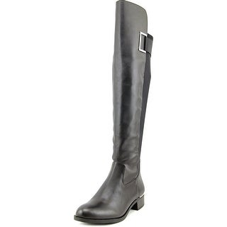 Calvin Klein Cylan Wide Calf Round Toe Leather Over the Knee Boot