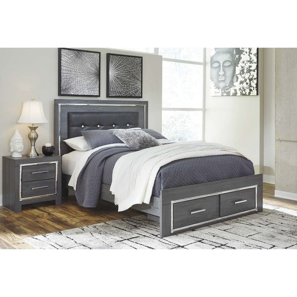 Ashley Furniture Pricing: Shop Ashley Furniture B214-96 Gray Lodanna Queen Panel