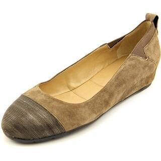 Vaneli Ardelia Women N/S Open Toe Suede Brown Wedge Heel
