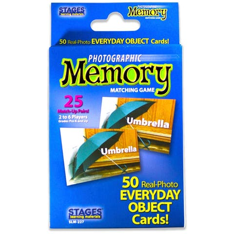(3 Ea) Everyday Objects Photo Memory Matching Game