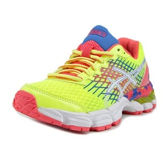 Asics Gel-Nimbus 17 GS Youth Round Toe Synthetic Yellow Running Shoe