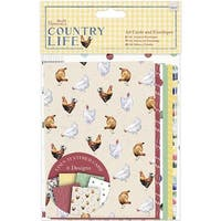Papermania Country Life Cards with A6 Envelopes-Linen Finish - 12