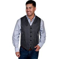 Scully Vest Mens Quality Adjustable Pinstripe Welt Pockets XT